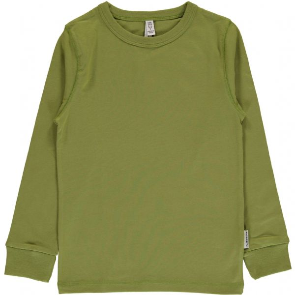 Maxomorra Long Sleeve Top Apple Green